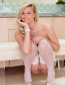 Alexa Johnson White Stockings