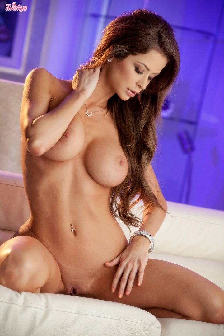 Emily addison sexy big tits redhead fingering and masturbating